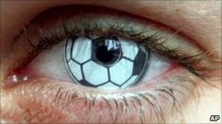 Soccer-style contact lens