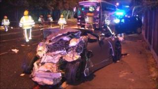 The scene, courtesy of West Midlands Ambulance Service