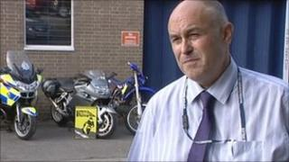 Phil Moore, road safety officer with Warwickshire Police