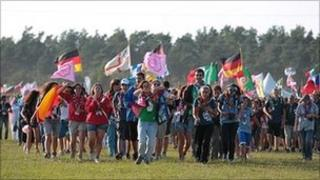 Scouts at the World Scout Jamboree in Sweden in August 2011 (Photo from World Scout Jamboree Sweden 2011)