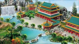 Artist impression of Visions of China development