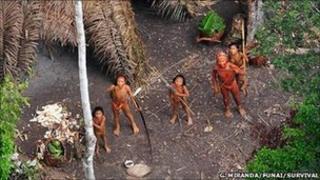 Panoan Indians (Gleison Miranda/FUNAI/Survival) in January 2011