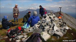 Survey team on Beinn a'Chlaidheimh