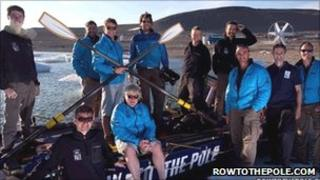 The Row to the Pole team