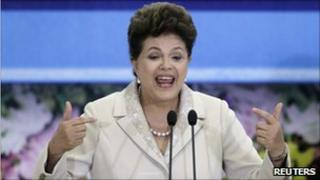 Dilma Rousseff on 9 August 2011
