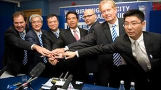 Carson Yeung with the Birmingham City football club Board of Directors