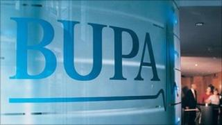 Bupa sign at its offices