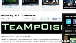 Team Poison site hacked