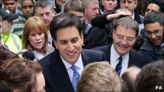 Ed Miliband in Manchester