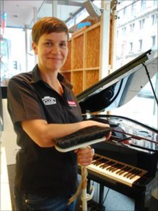 Trina Rance, retail manager of Dawson's music store