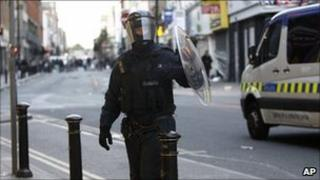 Riot officer in Manchester