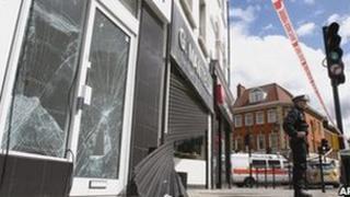 Smashed shop