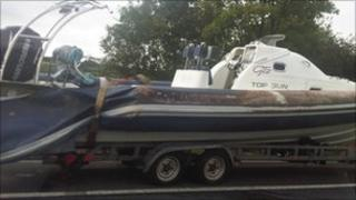 Boat on M5