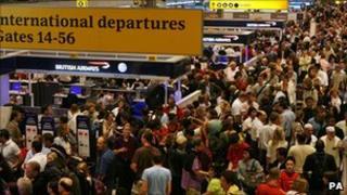 Crowds at Heathrow