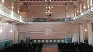 Inside Louth Town Hall