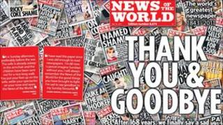 Final edition of the News of the World