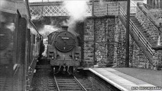 Knighton station in 1962