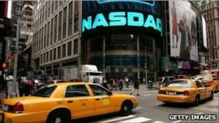 Picture of the Nasdaq sign