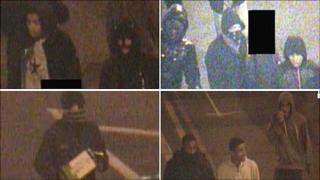 CCTV stills of suspected offenders