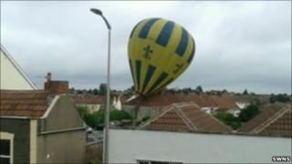 Balloon hits a property in Kingswood
