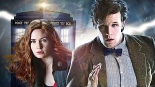 Matt Smith and Karen Gillan as Doctor Who and Amy Pond