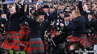 Field Marshal Montgomery Pipe Band celebrate world title win
