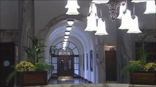 Police raided the ceremony at Belfast City Hall