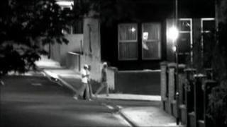 Three men walking across Francis Street into Nassau Place