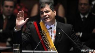 Rafael Correa on 10 August 2011