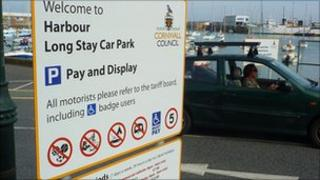 Penzance harbour carpark