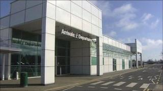 City of Derry Airport entrance arrivals