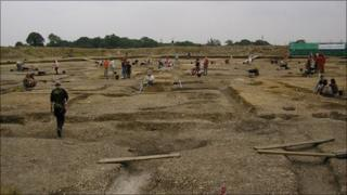 Silchester excavation site