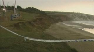 Culver Down cliff