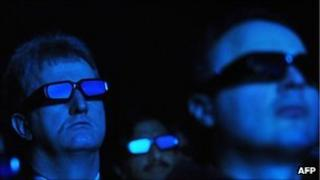 People wearing 3D glasses