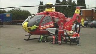Photo of the scene provided by West Midlands Ambulance Service