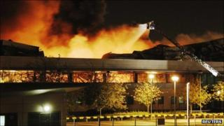 Fire at Sony warehouse in Enfield, north London
