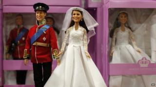 Dolls of Prince William and Kate