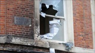 Riot damage