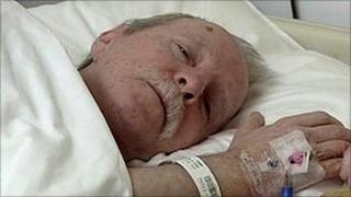 Brendan Lillis at Belfast City Hospital