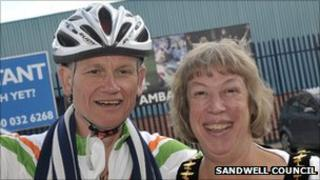 Dave Heeley and Cllr Joyce Underhill