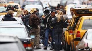 film crew on the streets of Glasgow