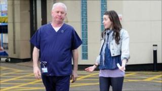Derek Thompson as Charlie Fairhead and Evelyn Hoskins as Shona