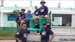 ShelterBox team in the Philippines