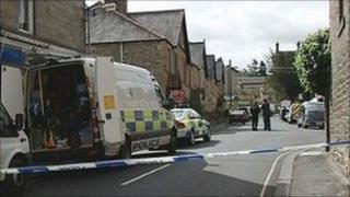 Hexham murder scene