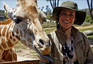 LJ Rich with giraffe