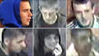 CCTV of Leicester disorder suspects