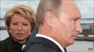 Valentina Matviyenko with Vladimir Putin