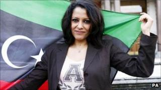 Basma, the niece of the leader of the National Transitional Council