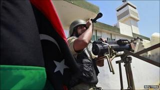 Libyan rebel soldier in Tripoli. 22 Aug 2011