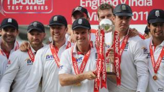 England's cricket team have beat India 4-0 in their test match series.
